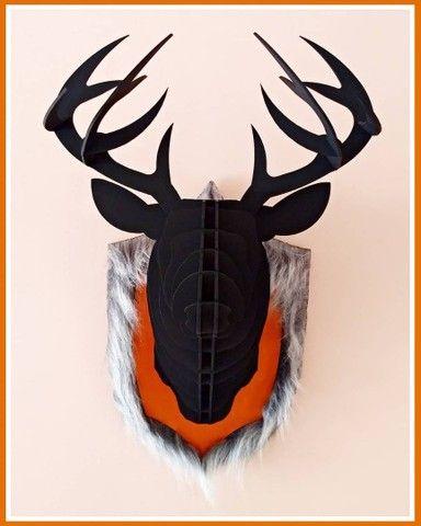 Troféu de Parede Cervo Negro 3D - Foto 2