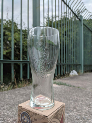 Copo original da Budweiser - vidro resistente - Foto 3