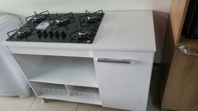 Fogão cook top 5 bocas automático mais armário novo