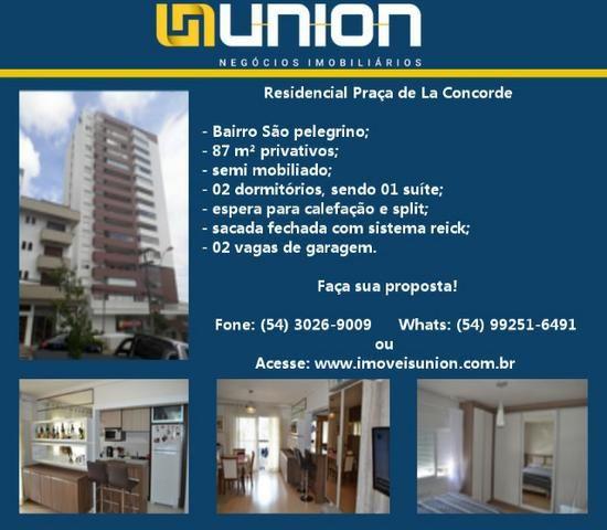 Oferta Imóveis Union! Apartamento semi mobiliado com 87 m² privativos próximo ao centro!