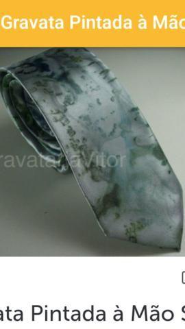 Gravatas pintadas a mao - Foto 5