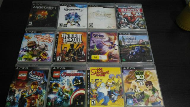 PS3 + jogos infantis mídia digital - Foto 3