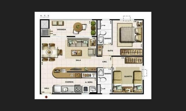 Apartamento com 02quartos/suite 61 m² por R$ 195.000,00 - Praia da Baleia - Serra/ES - Foto 12