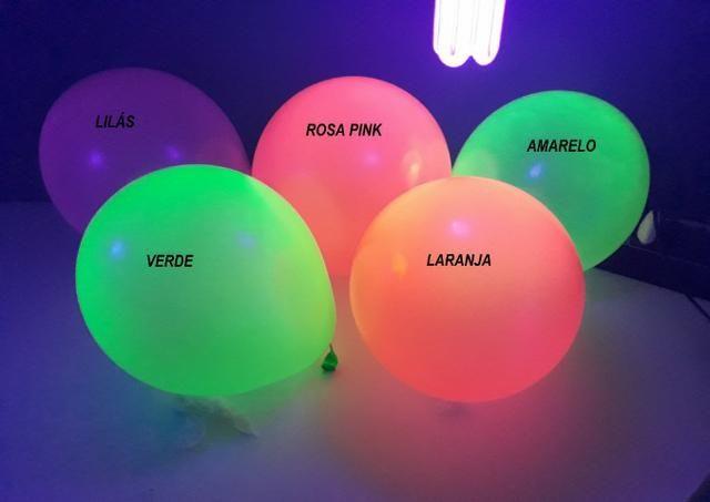 Balões Neon kit 25 unidades - brilha com luz negra( leia a descrição)
