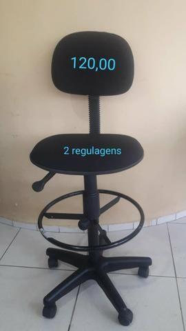 Cadeiras estofadas de escritório - Foto 3