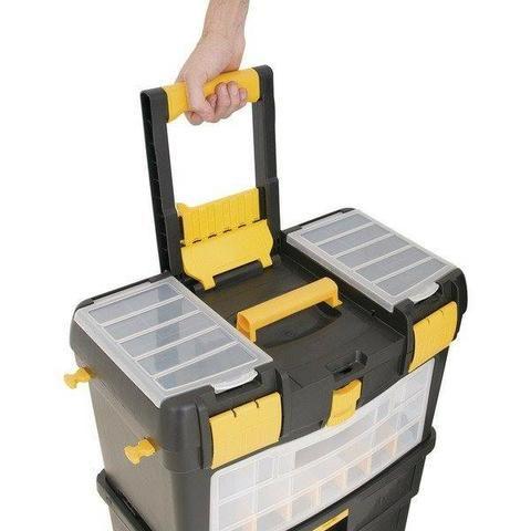 Caixa plástica com rodas CRV 0100 Vonder (NOVA) - Foto 3