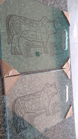 Tábua de Carne Vidro 10 mm