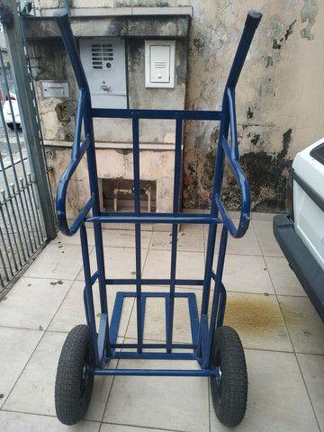 Carrinho de mão carga transporte 500 kilos kg - Foto 5