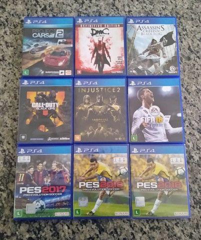 Jogos de PS4 mídia física (disponíveis)