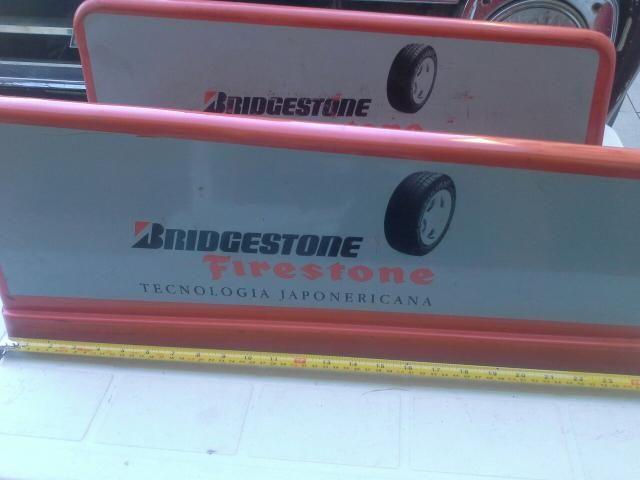 Suportes para pneus caminhão Bridgestone firestone antiguidades decoração - Foto 2