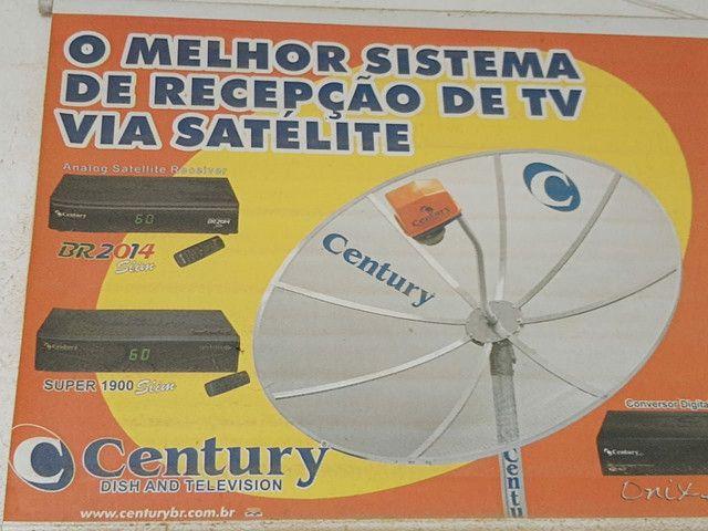 Antena Parabólica  1,90m com aparelho digital