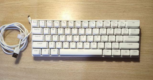 Teclado bluetooth branco RGB - Foto 2