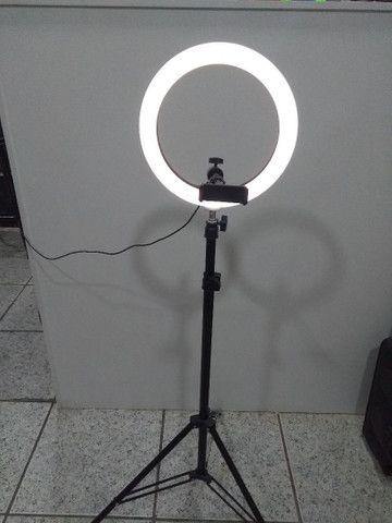 Ring Light Portátil iluminador led USB Tripé de 1,80  - Foto 6