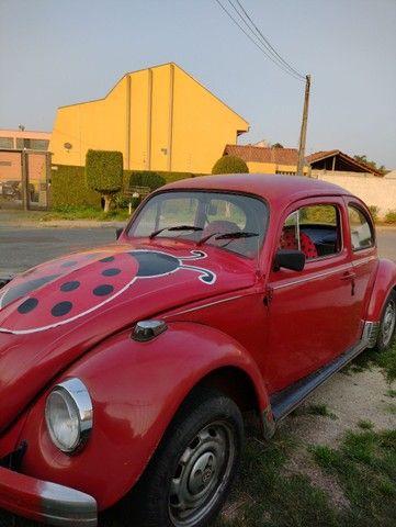 Fusca Vermelho - motor 1300 - ano 1977