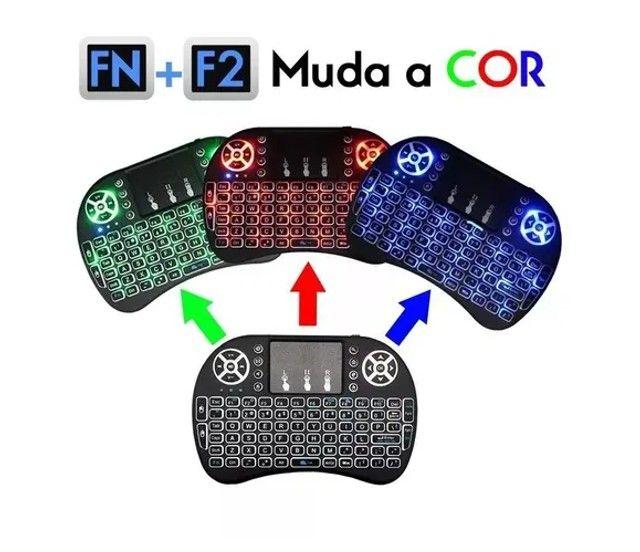 controle para tv box smarttv, computador mini teclado - Foto 2