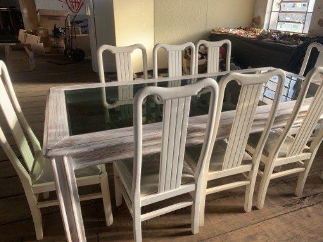 Mesa madeira com 8 cadeiras - Foto 3