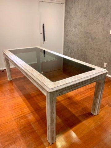 Mesa madeira com 8 cadeiras - Foto 4