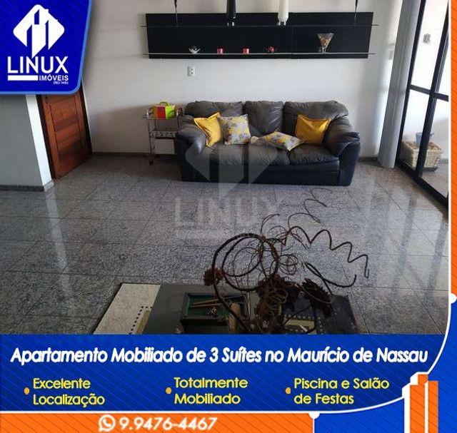 Alugo Apartamento mobiliado de 04 quartos (03 suítes), em Caruaru/PE - Foto 5