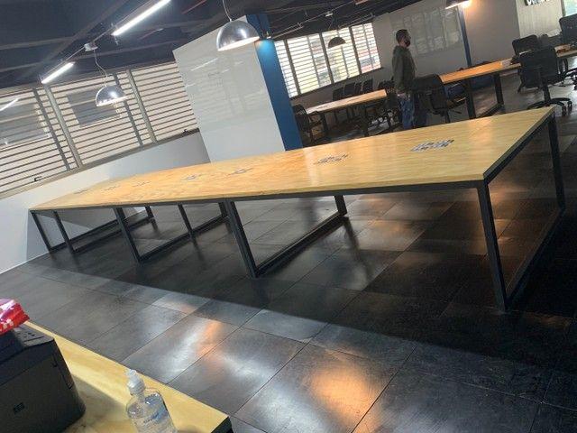 Mesa de escritório madeira industrial  - Foto 2