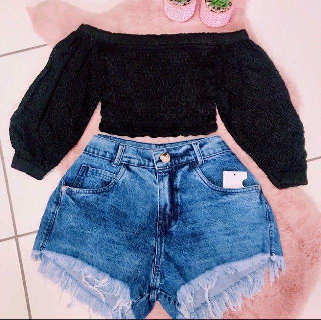 Shorts Jeans Feminino - Foto 5