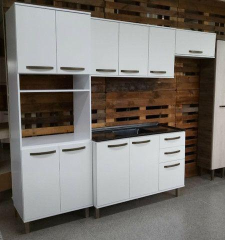 Cozinha Branca Completa Nova Pronta Entrega - Foto 2