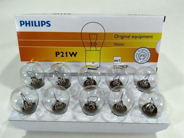 Lâmpada Pisca Ré Philips P21W Universal Carro Moto
