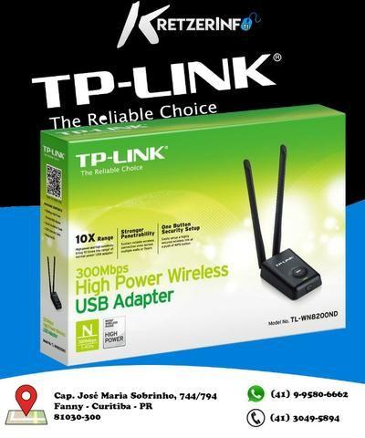 Tp-link Adaptador Usb Wireless De Alta Potência 300mbps