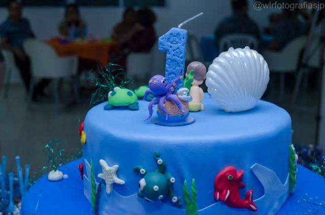 Alugo bolo fake tema fundo do mar - Foto 3