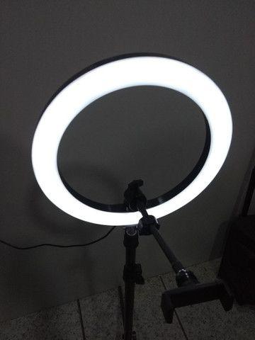 Ring Light Portátil iluminador led USB Tripé de 1,80  - Foto 3