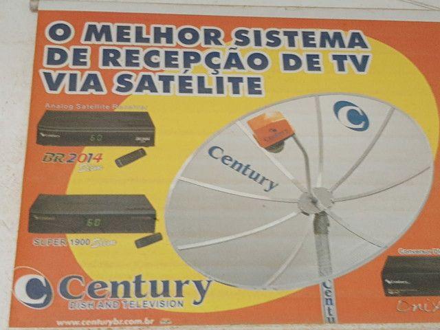 Antena Parabólica  1,90m com aparelho digital - Foto 3