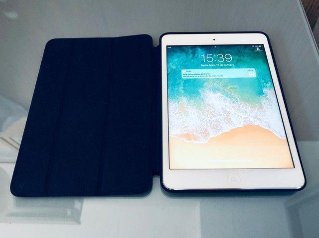 IPad Mini 2 - 32Gb + Smart Case Original Apple de Couro Legítimo Marinho - Foto 2