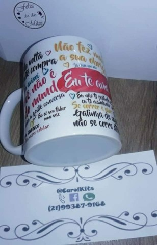Caneca porcelana personalizada dia das mães - Foto 3