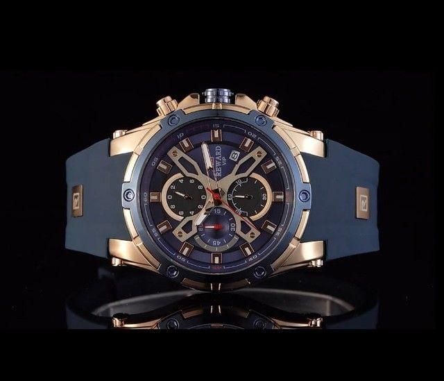 Relógio Masculino Importado Original Reward Super Premium   - Foto 4