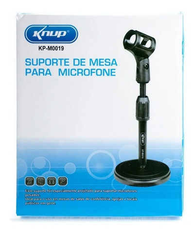 Suporte Pedestal Para Microfone De Mesa Ou Estúdio Universal - Foto 2