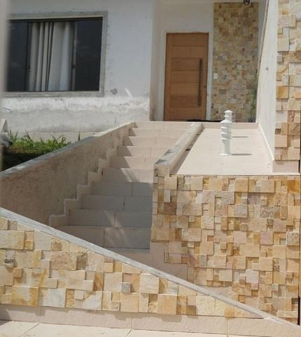 Mosaico de Pedra São Tomé Variado 3D Revestimento Natural Promoção DoMeuGosto  - Foto 5