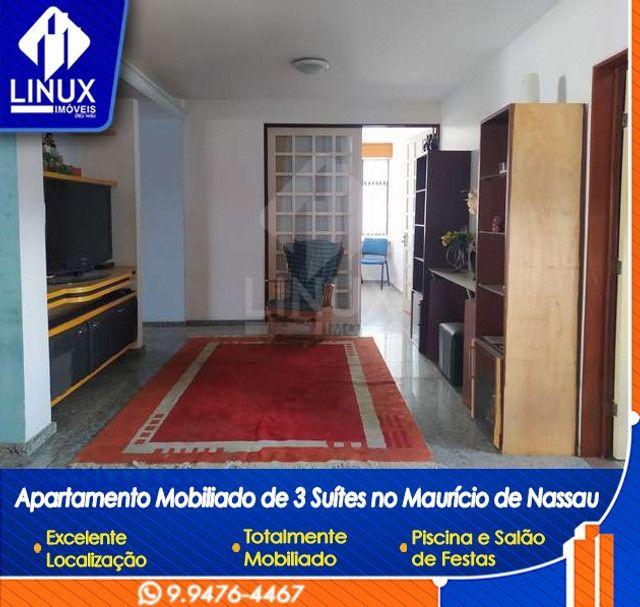 Alugo Apartamento mobiliado de 04 quartos (03 suítes), em Caruaru/PE - Foto 8