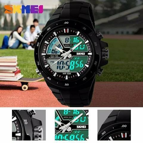 1c4006587f5 Relógio skmei original a prova d água digital e analógico ...