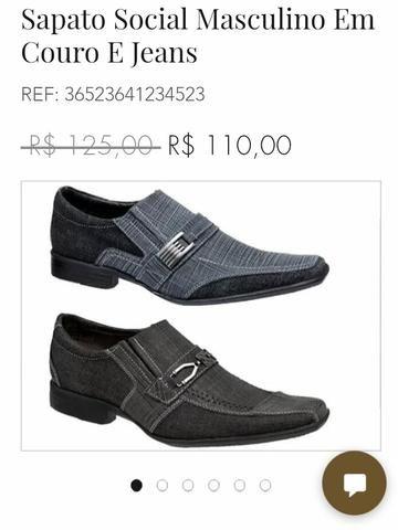 b8597141f Sapato Social de Couro Legitimo Direto da Fábrica - Roupas e ...