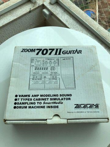 Pedaleira para Guitarra - Zoom 707 II Original com Manual - Foto 4