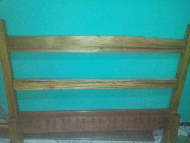 Cama de casal toda de madeira. De timborana  - Foto 3