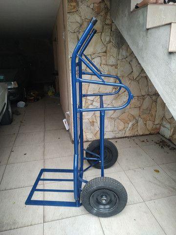 Carrinho de mão carga transporte 500 kilos kg - Foto 6