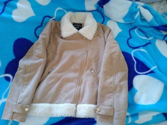 Jaqueta forrada em lã - Foto 2