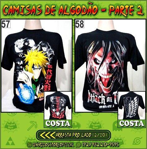 Camisas Geek Nerd Gamer Otaku - NerdDog Store - Naruto, Dragonball, One Piece, etc - Foto 2