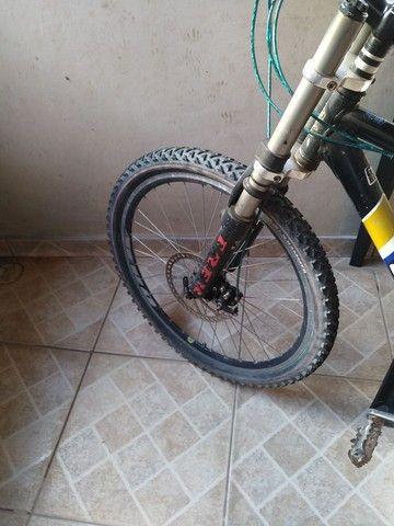 Vendo bike com amortecedor freio a disco - Foto 4