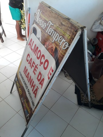 Cavalete placa de preços e balcão para comércio zap. *83 - Foto 4