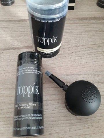 Kit Toppik Hair 27.5g Fibras de Queratina com Bico Borrifador - Foto 2