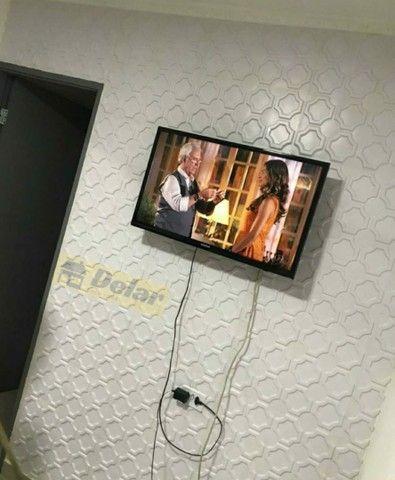 Placa 3D pvc para teto ou parede 50x50cm $7,75 - Foto 3
