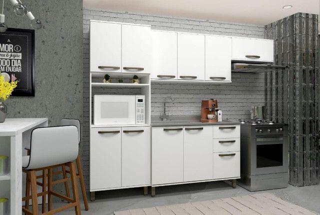 Cozinha Branca Completa Nova Pronta Entrega - Foto 3