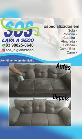 SOS HIGIENIZAÇÃO A SECO /GARANTIMOS O SERVIÇO PREÇO BAIXOU / BORA APROVEITAR - Foto 5
