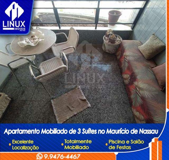 Alugo Apartamento mobiliado de 04 quartos (03 suítes), em Caruaru/PE - Foto 13